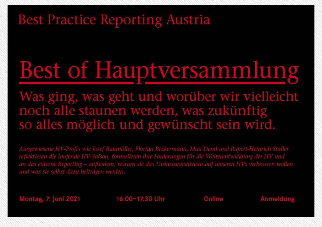 Webinar Best of Hauptversammlung