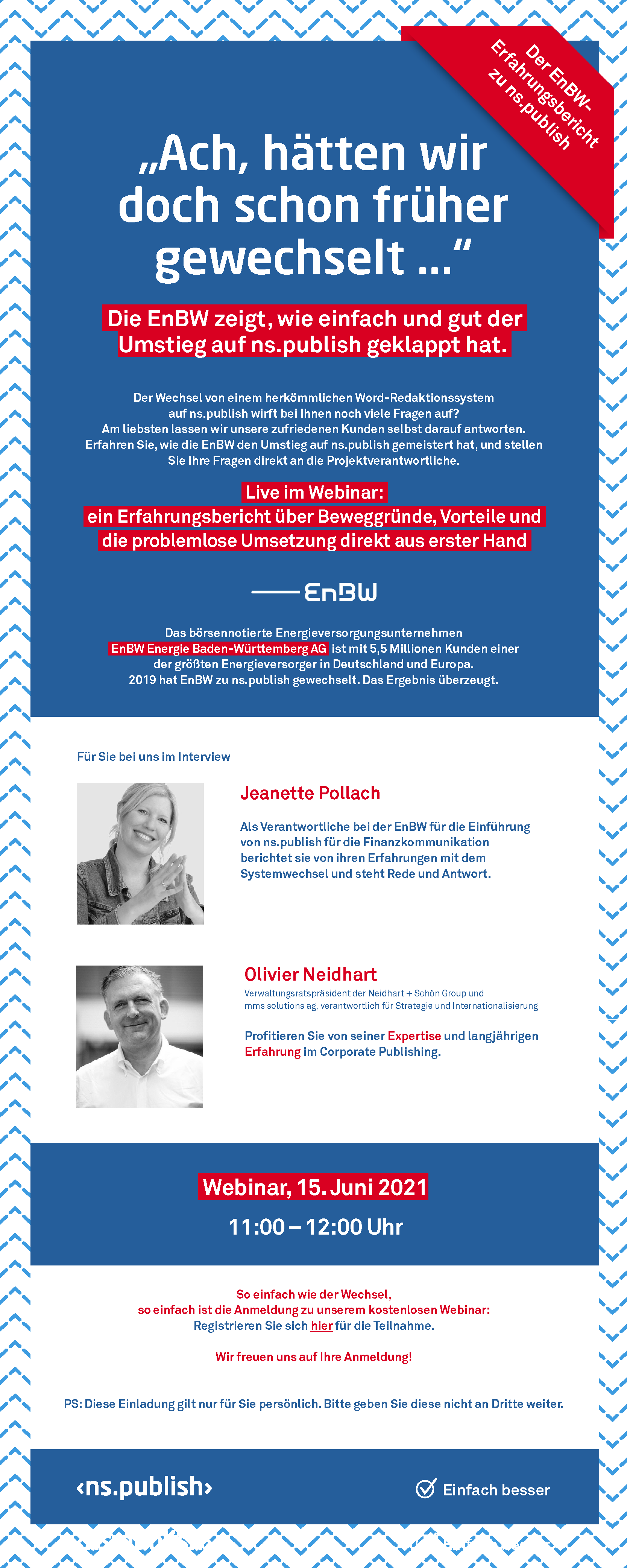 ns.publish Webinar EnBW Erfahrungsbericht